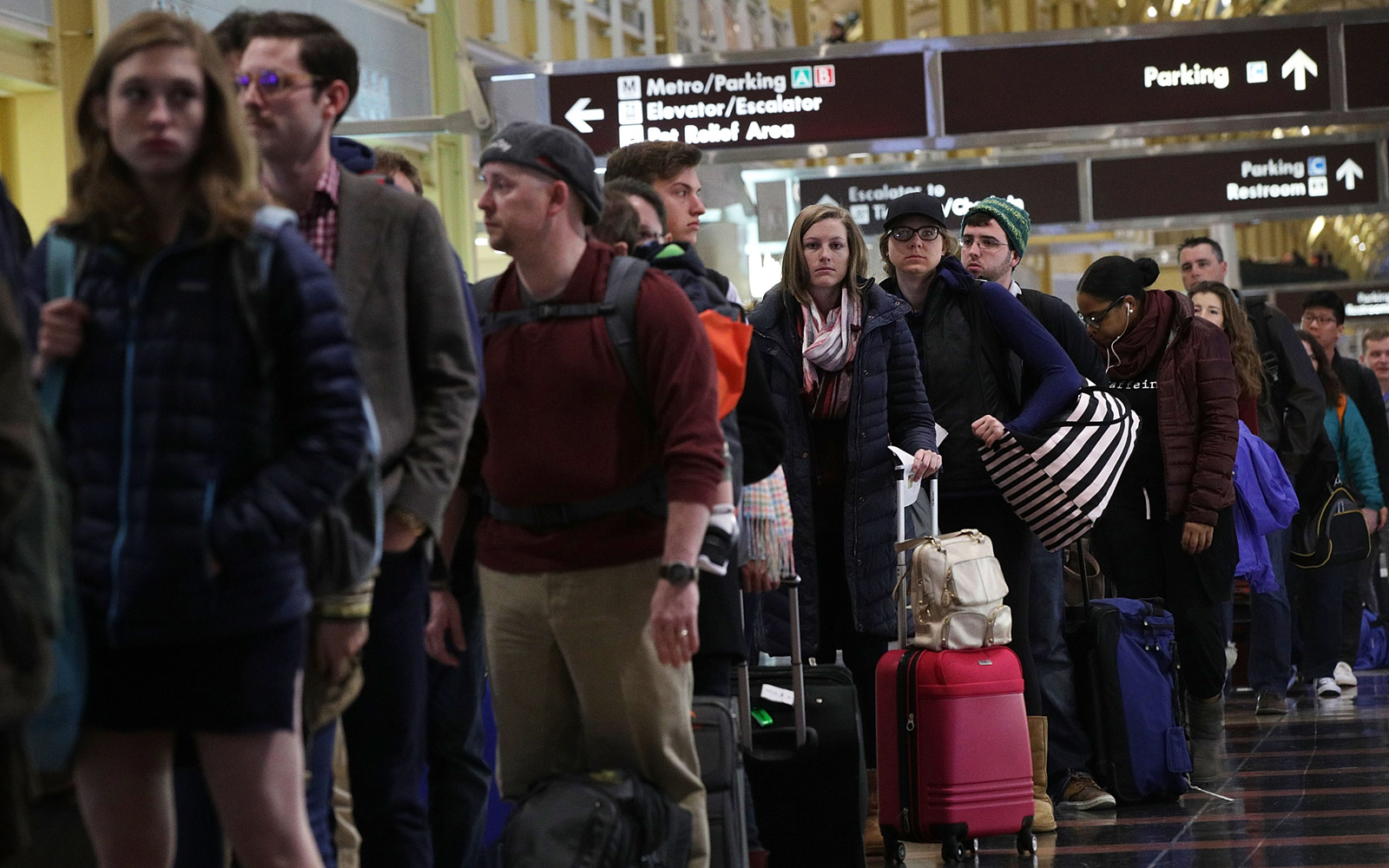 Busy at the airport at Thanksgiving.