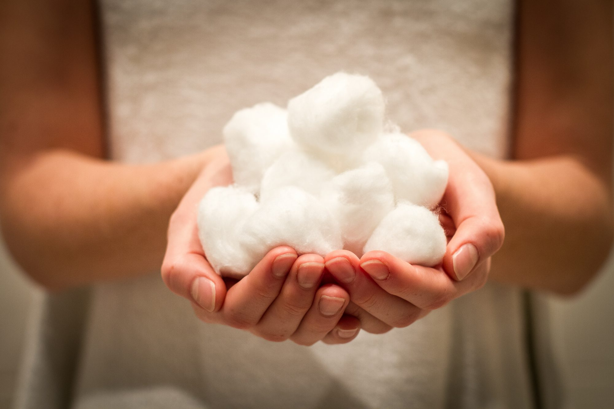 Handful of Cotton Balls