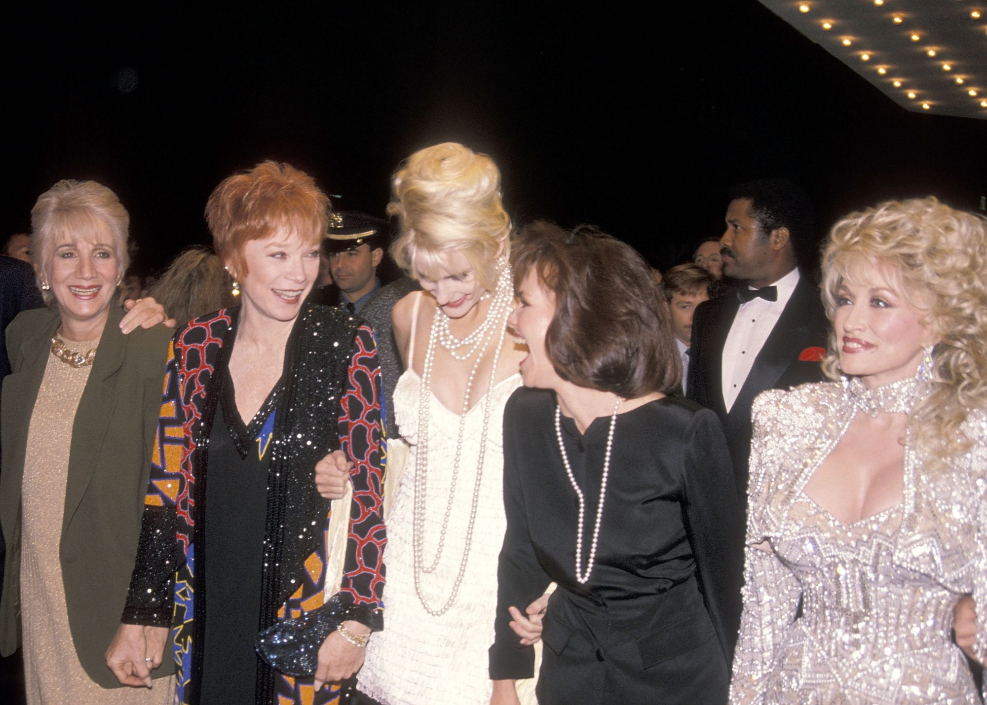 Olympia Dukakis, Shirley MacLaine, Daryl Hannah, Sally Field and Dolly Parton at Steel Magnolias Movie Premiere