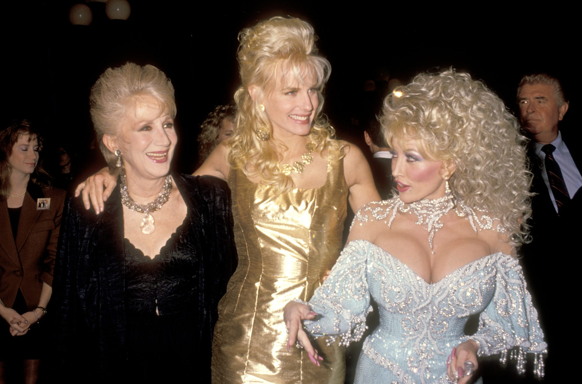 Olympia Dukakis, Daryl Hannah, and Dolly Parton at the Steel Magnolias Movie Premiere