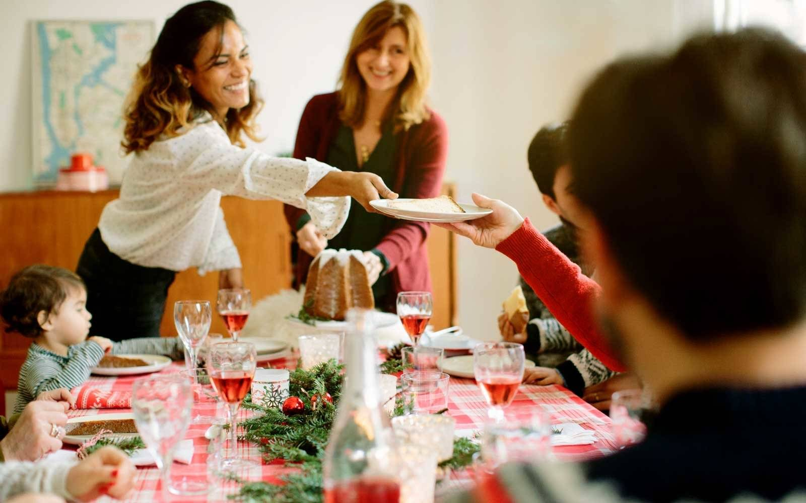 People at Table During Holiday Meal