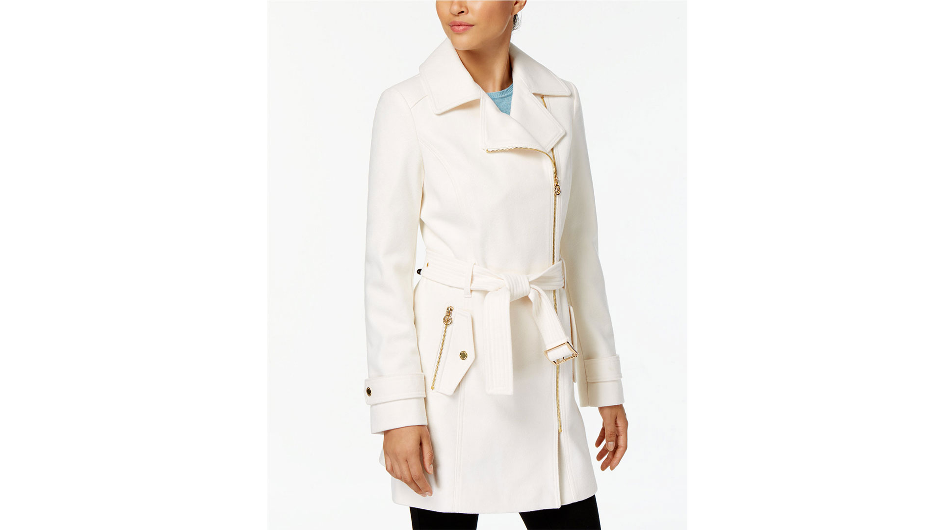 Macy's Michael Kors Asymmetrical Walker Coat