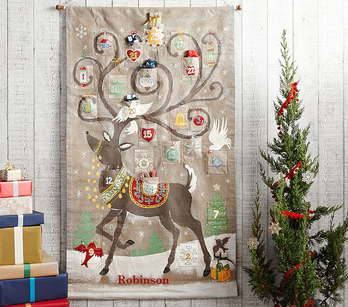 Reindeer Painted Advent Calendar