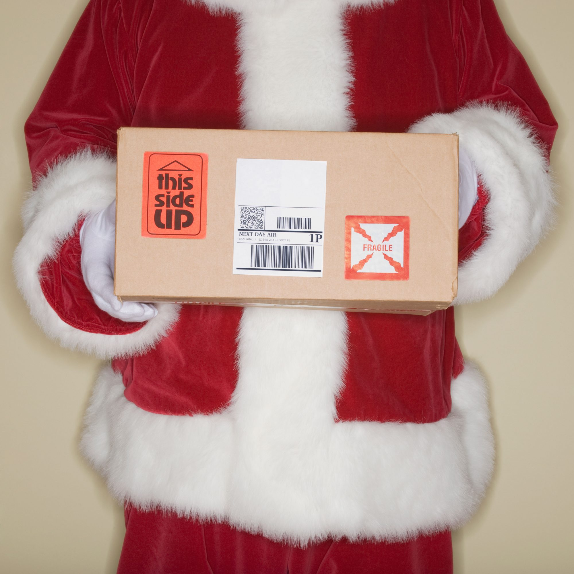 Santa Claus Holding a Package