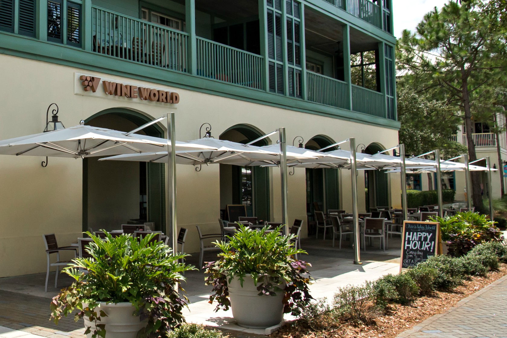 No surprises here: This sophisticated spot in WaterColor's petite town center pours wines of all varieties, with a happy hour special every day and food specials a few nights a week. Stick to sipping on the shaded patio, or order pizza, a cheese...
