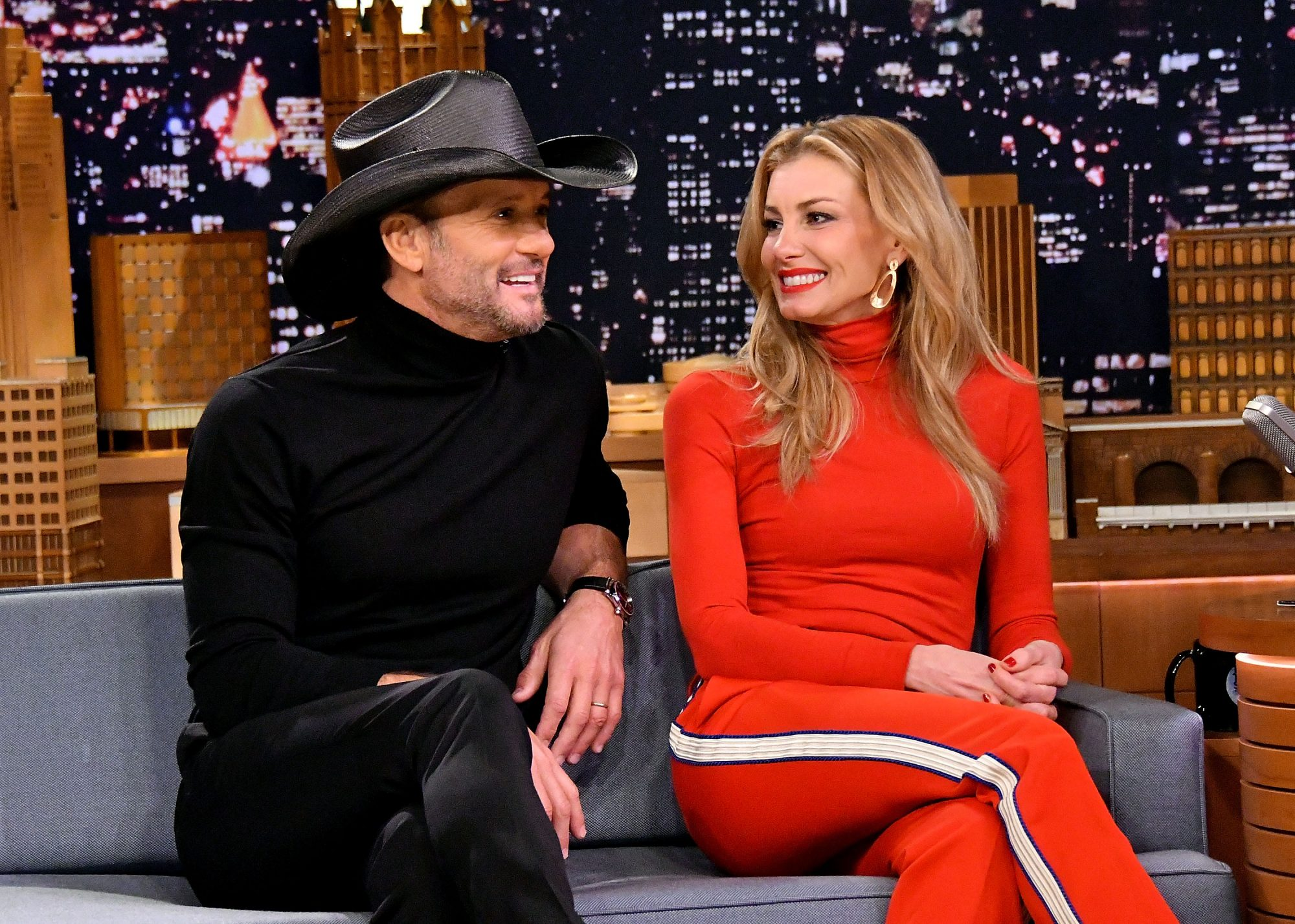 Tim and Faith on the Tonight Show