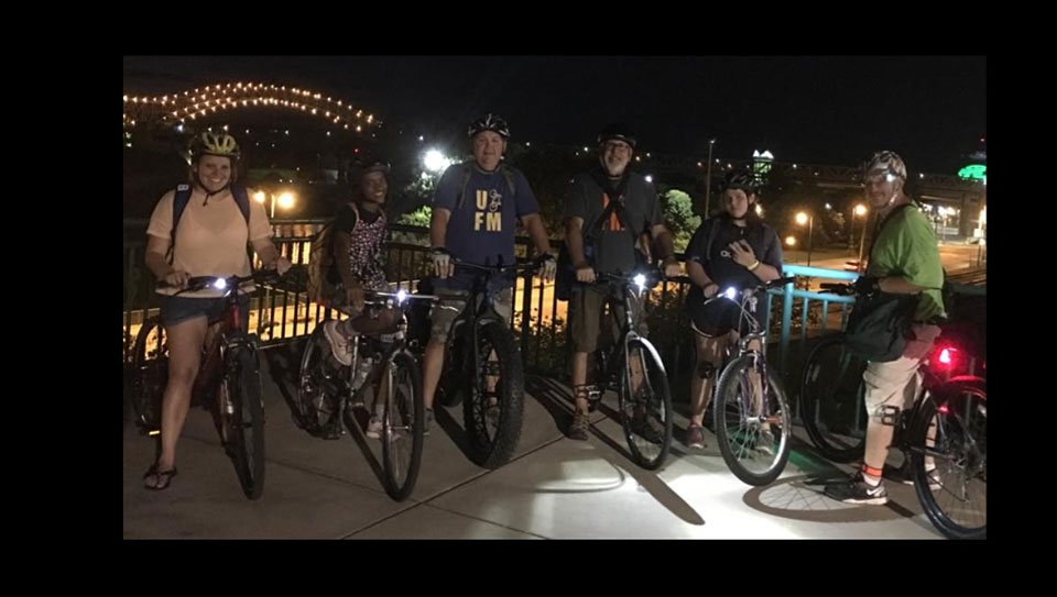 Urban Bicycle Food Ministry Riders