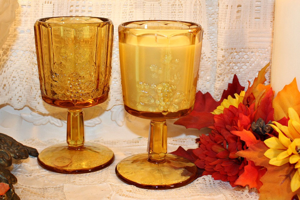 Vintage Glass Candles