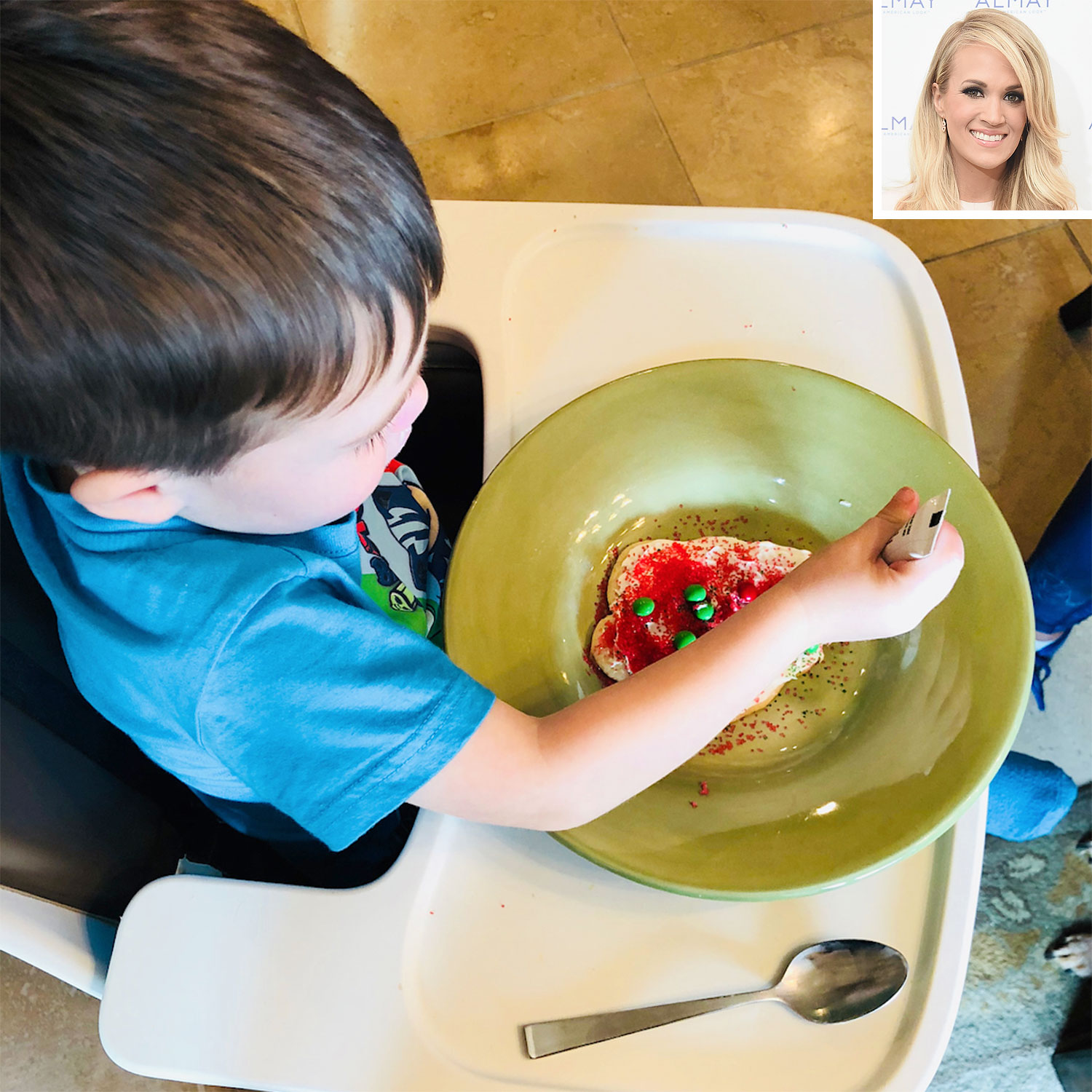 Baking Buddies! Carrie Underwood Makes Christmas Cookies (for the First Time!) with Son Isaiah