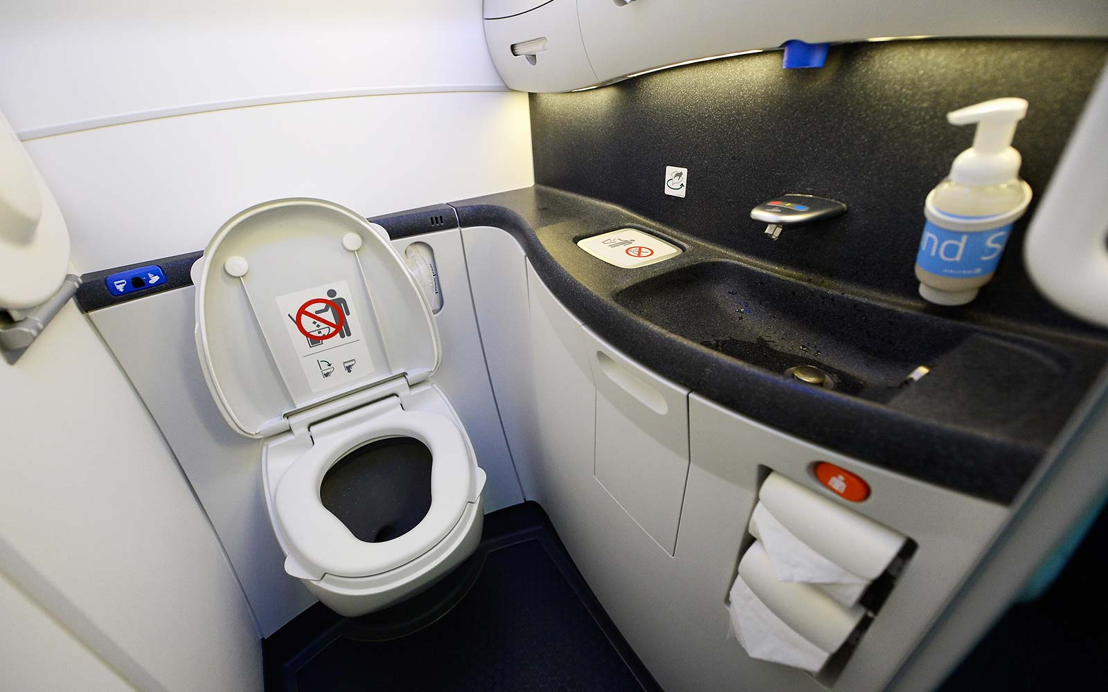 When to use the bathroom on a plane