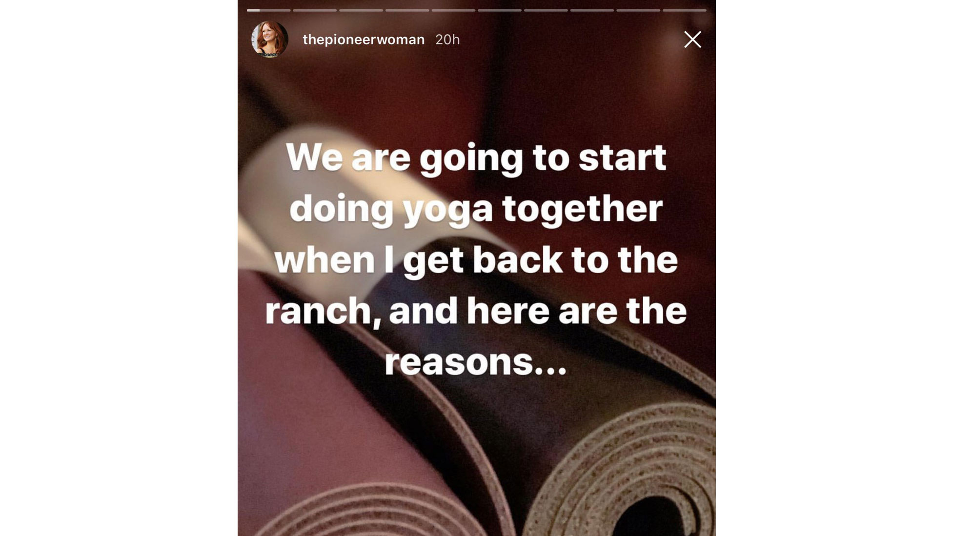 Ree Drummond Lists Reasons Started Doing Yoga