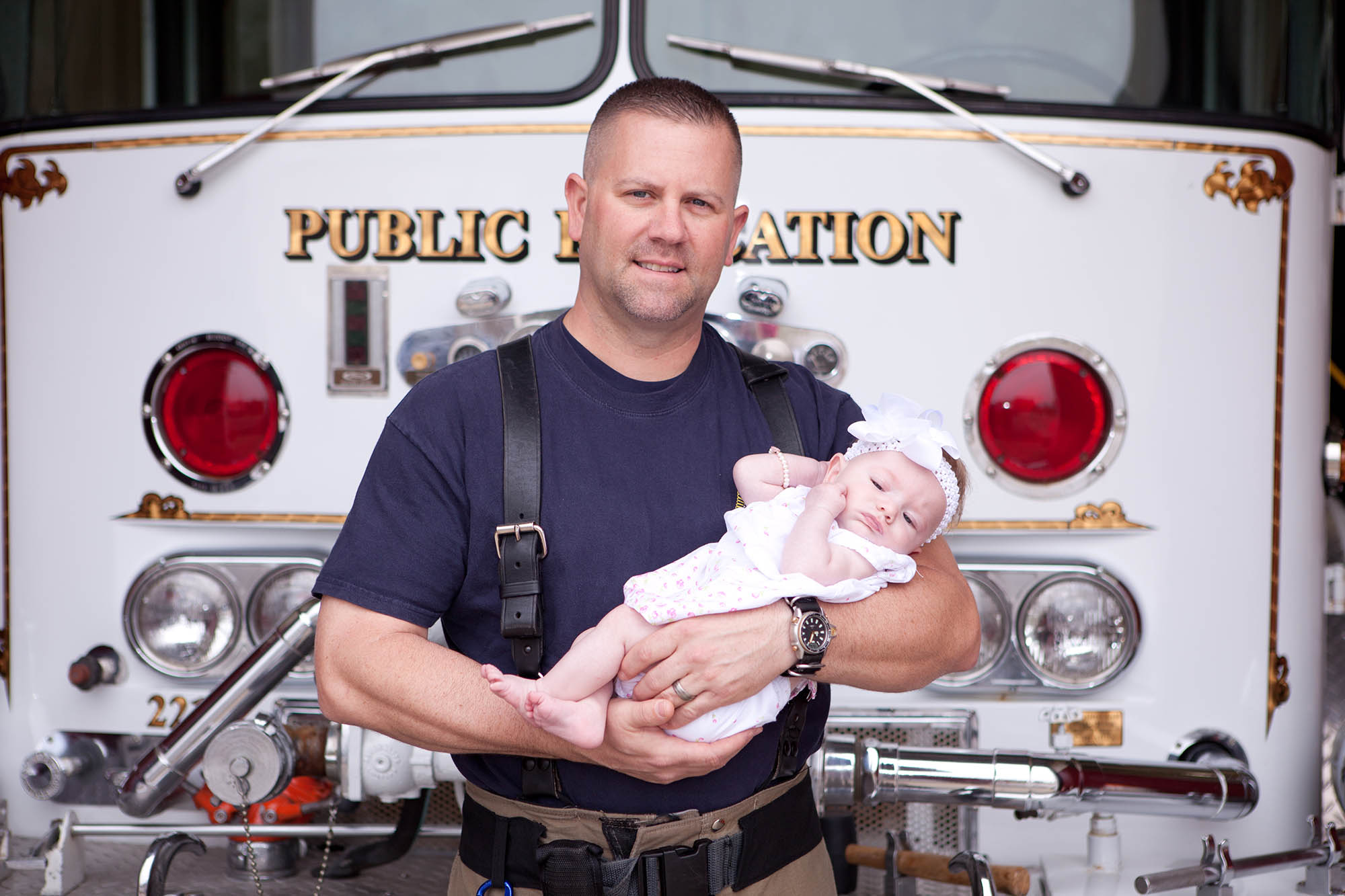Firefighter Adopts Baby Girl He Delivered on The Job after Saving Her Life