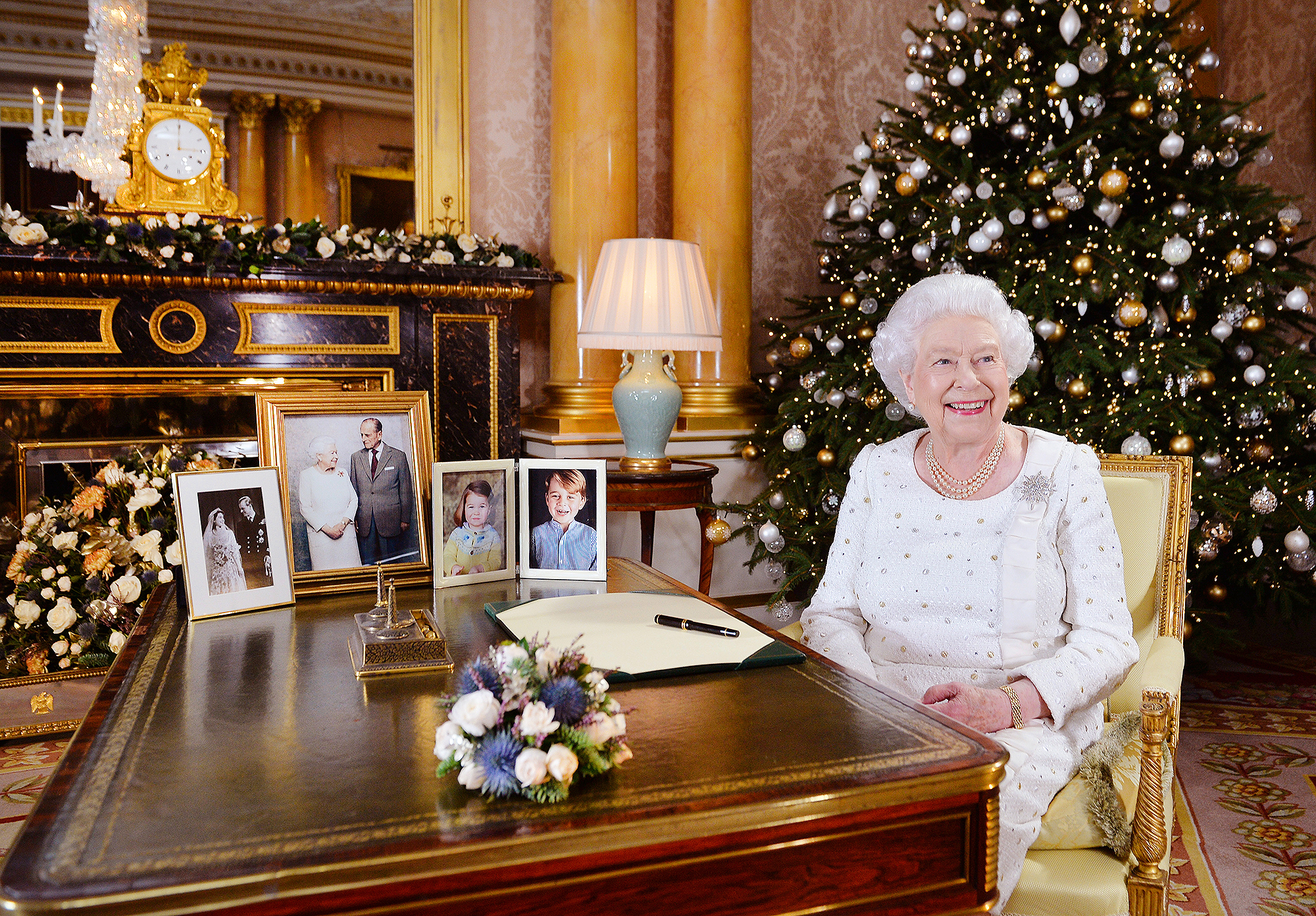 Where the Queen's Fast-Thinking Aide Found a Photo of Prince George in Time for Her Christmas Address