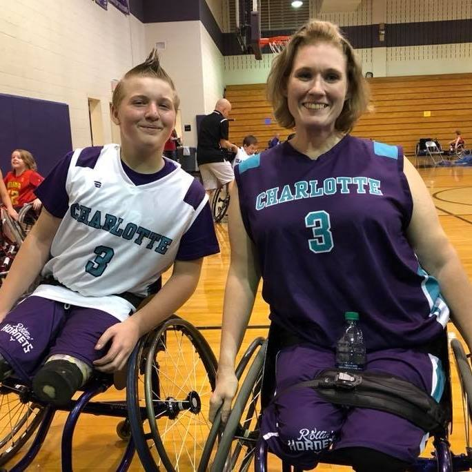 Mother Son Duo Play for Charlotte Rollin Hornets