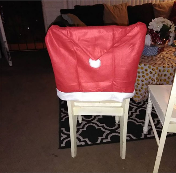 Santa's Hat Chair Cover