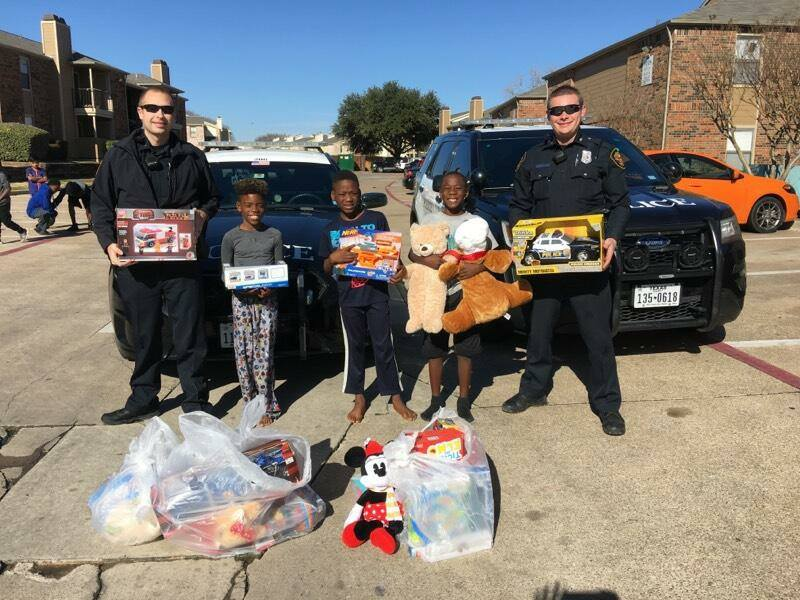 Fort Worth Police Replace Stolen Gifts
