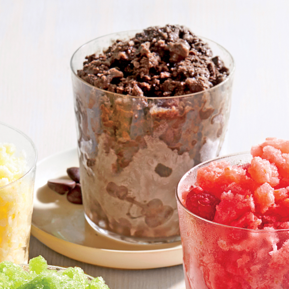 Chocolate Milk Granita