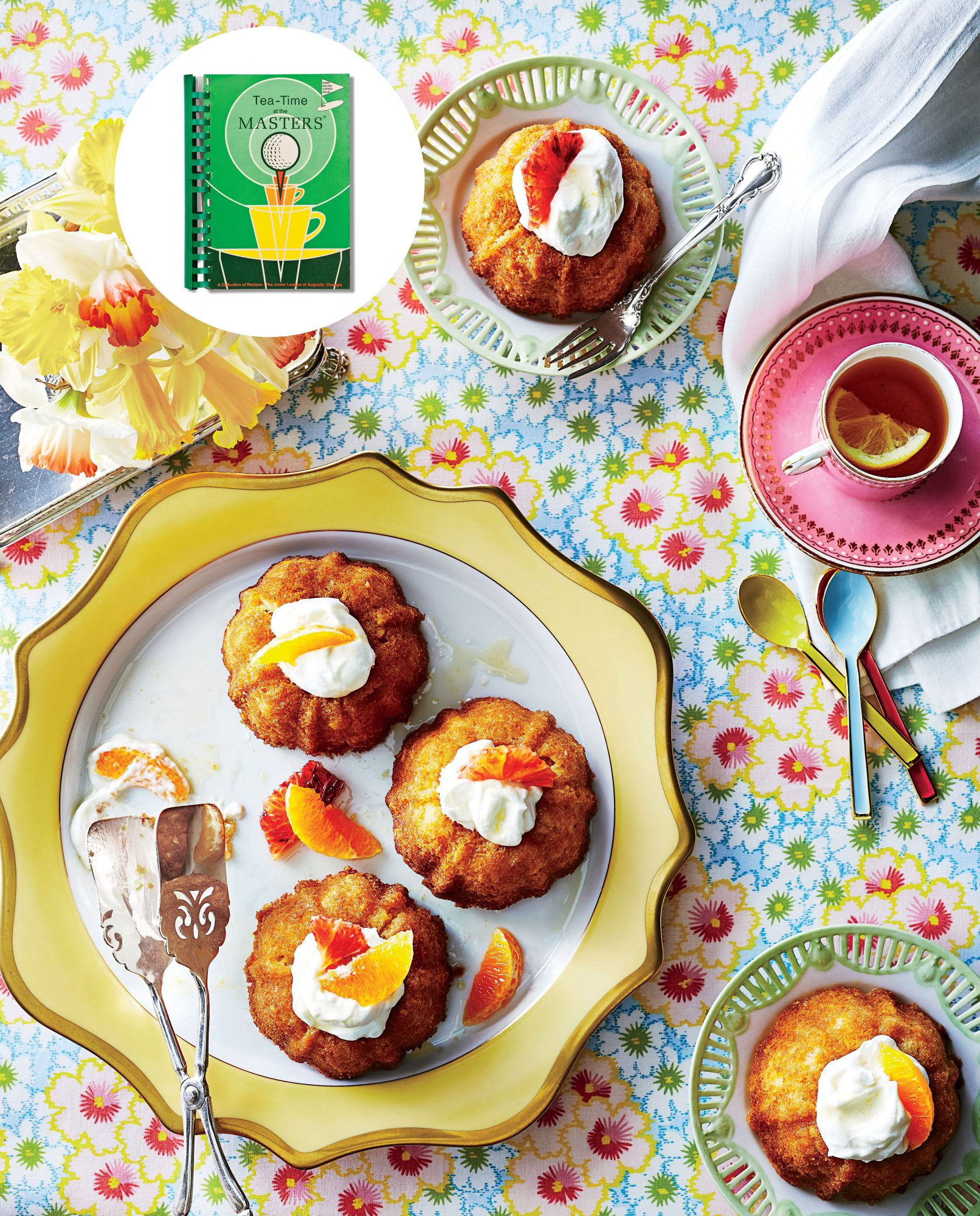 Grand Marnier Cakes from Tea-Time at the Masters