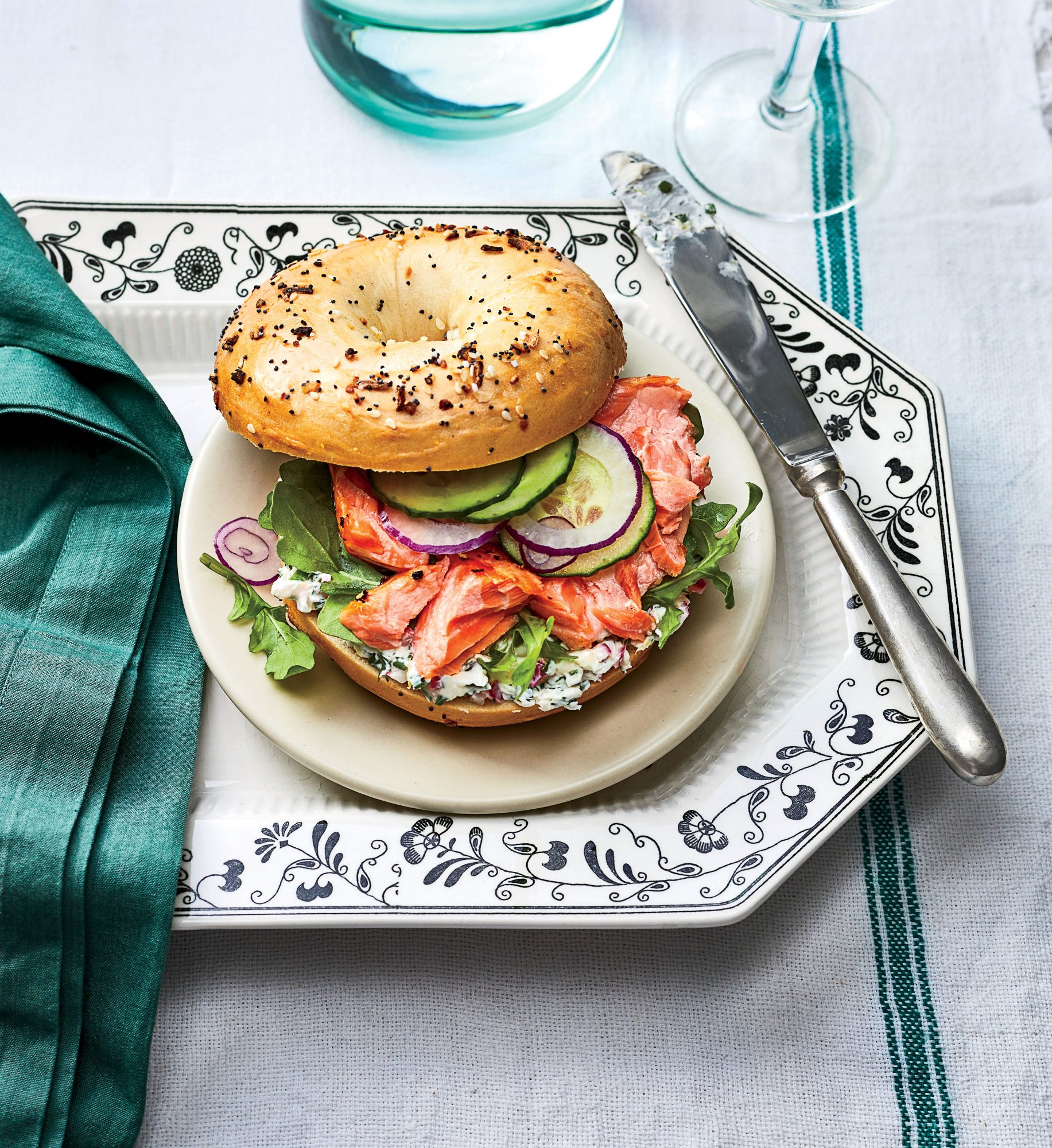 Salmon Bagel Sandwiches