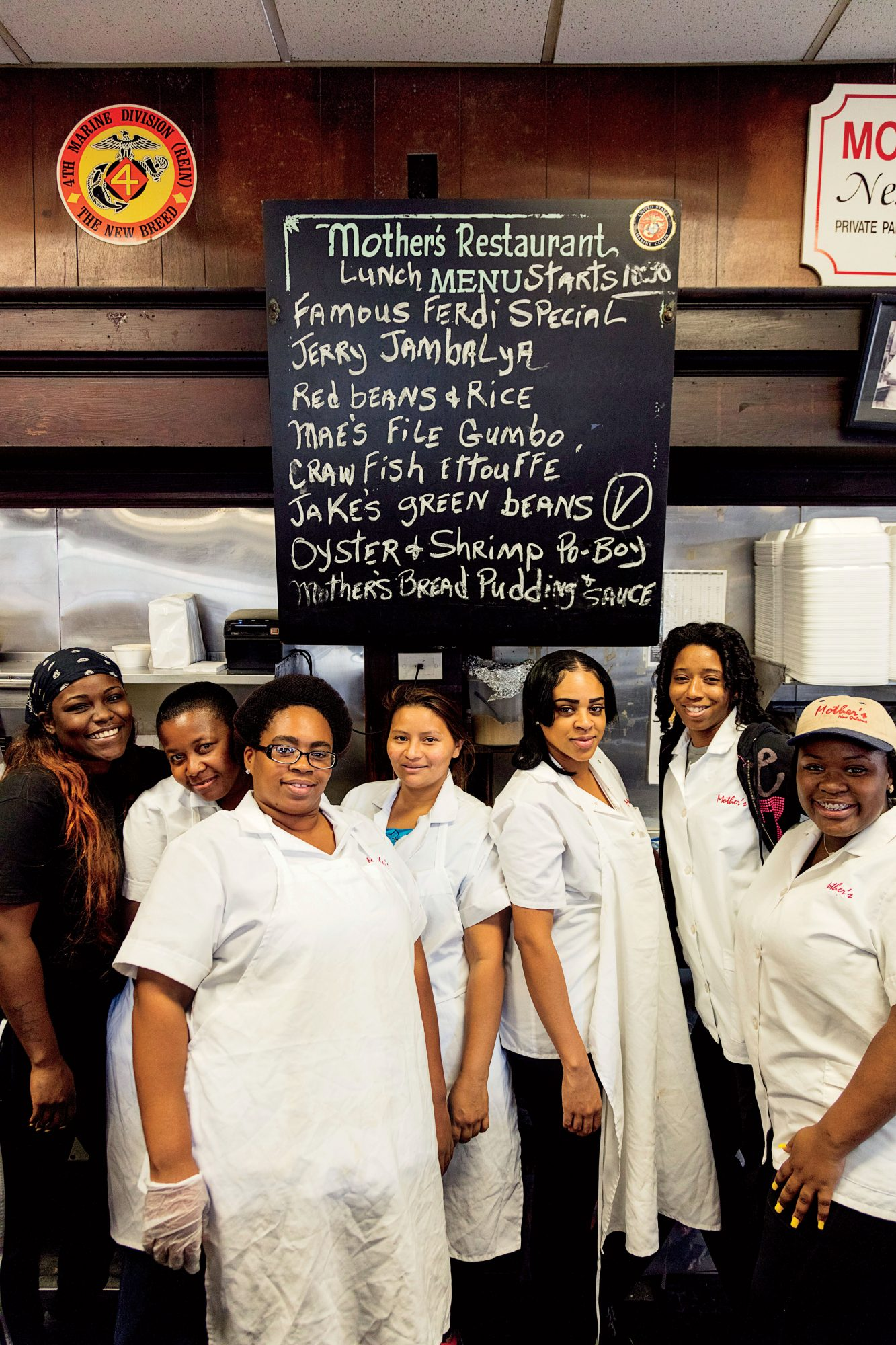 Staff at Mother's Restaurant