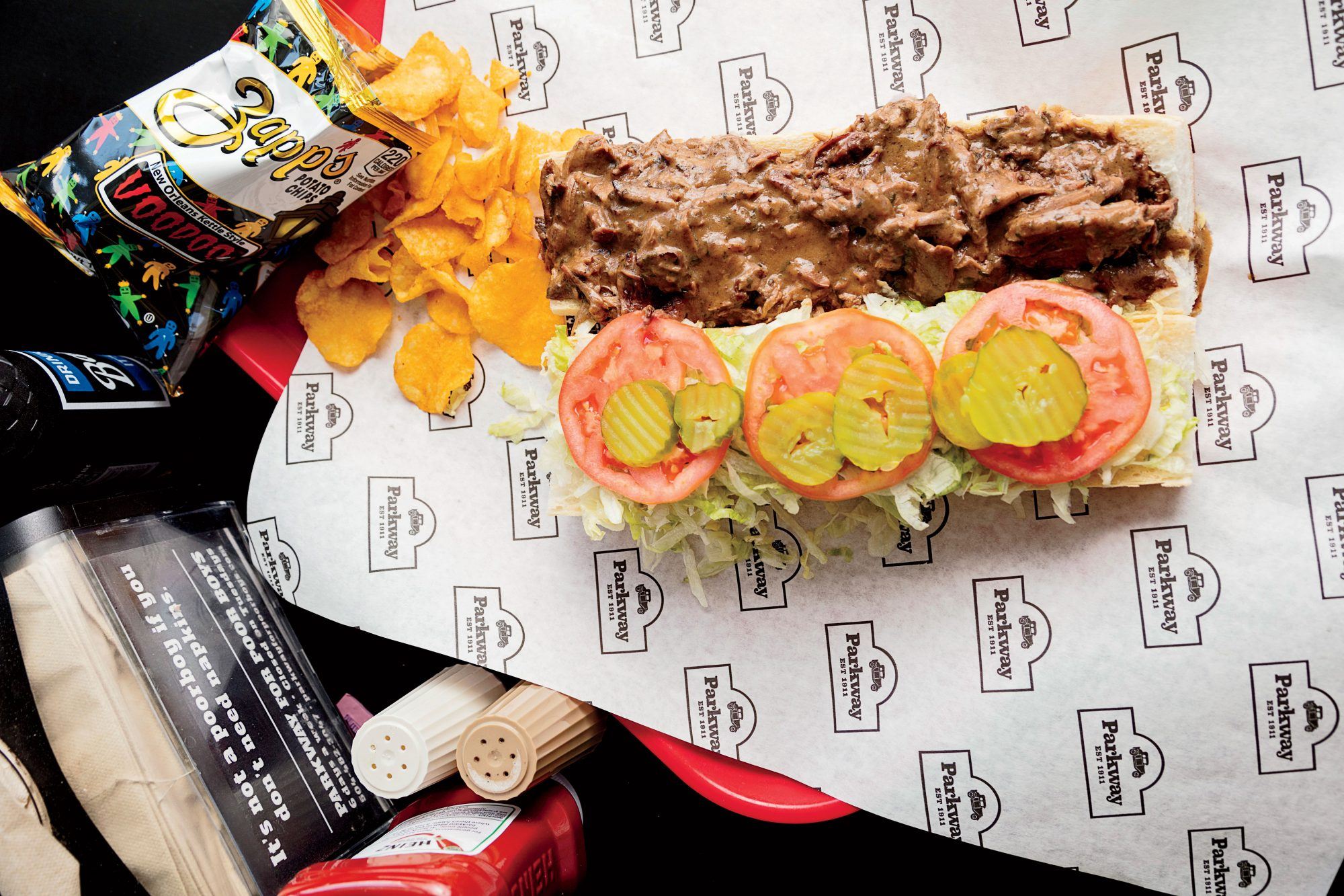 Parkway Bakery and Tavern Hot Roast Beef Poboy