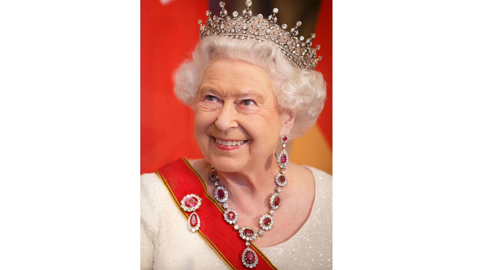 Queen Victoria's Crown Ruby Earrings and Necklace