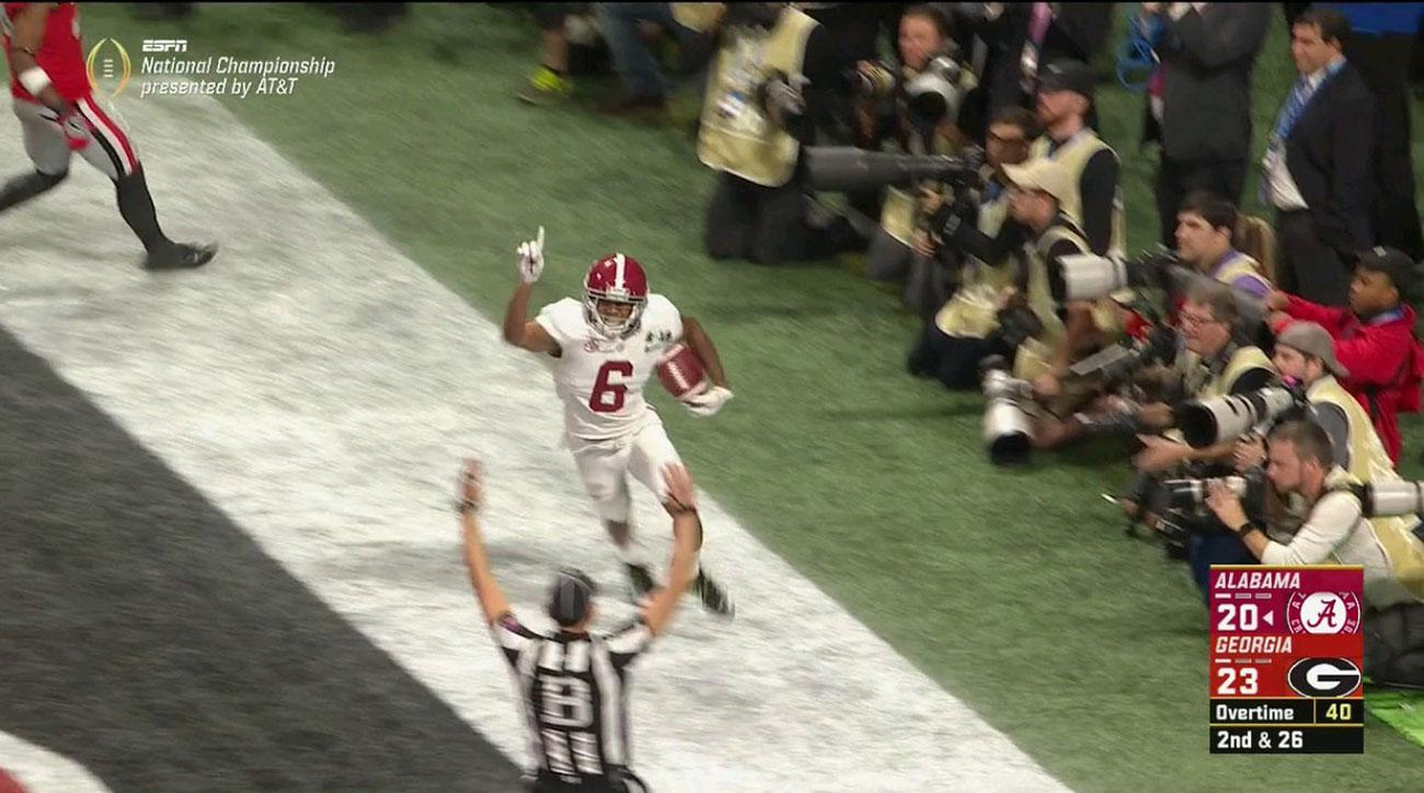 Watch: Alabama Wins National Championship In OT on Tua Tagovailoa Touchdown To DeVonta Smith