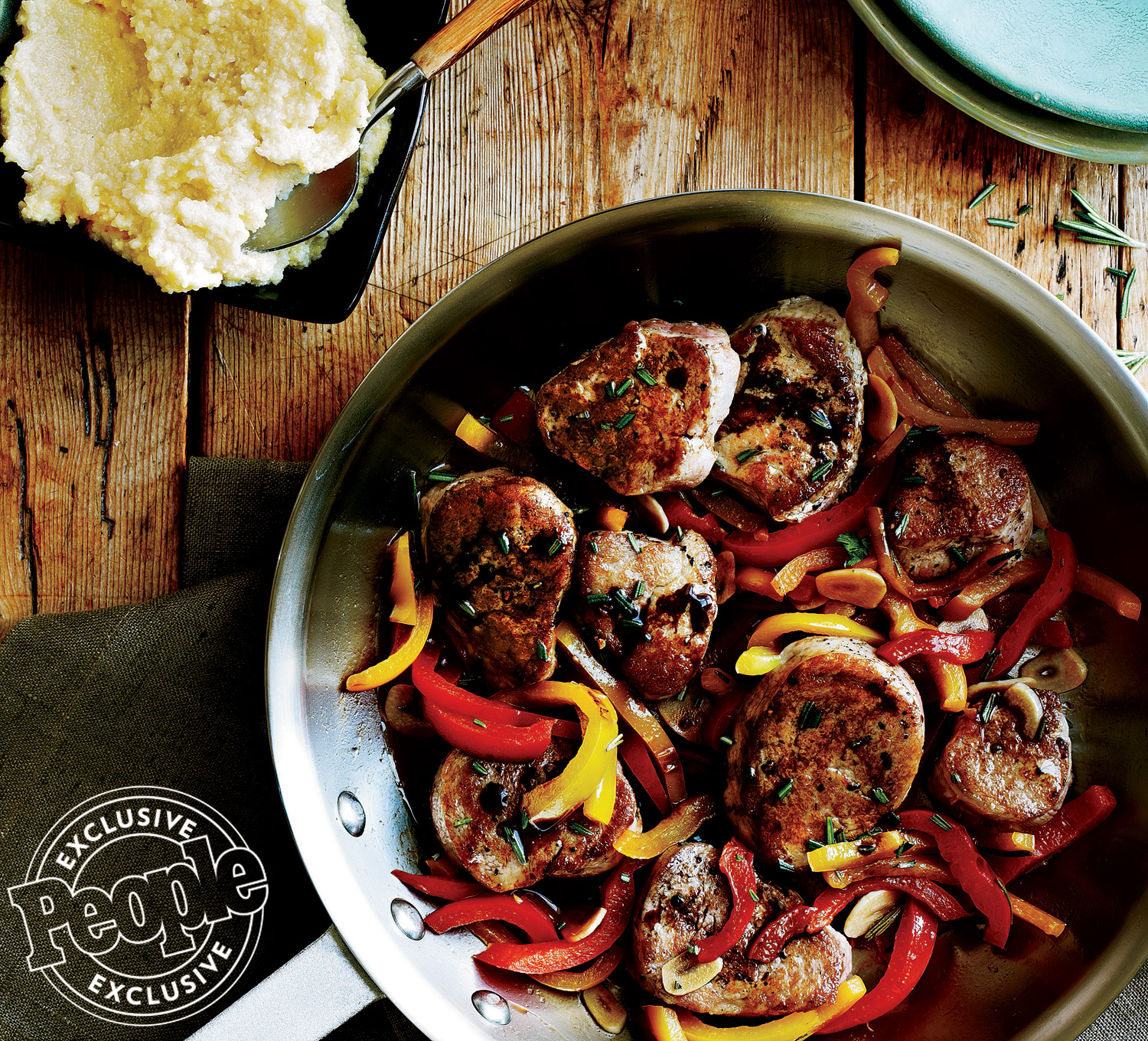 PORK TENDERLOIN WITH RED & YELLOW PEPPERS