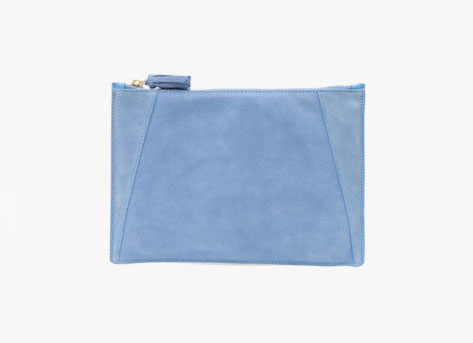 No. 9 The Flat Clutch Suede