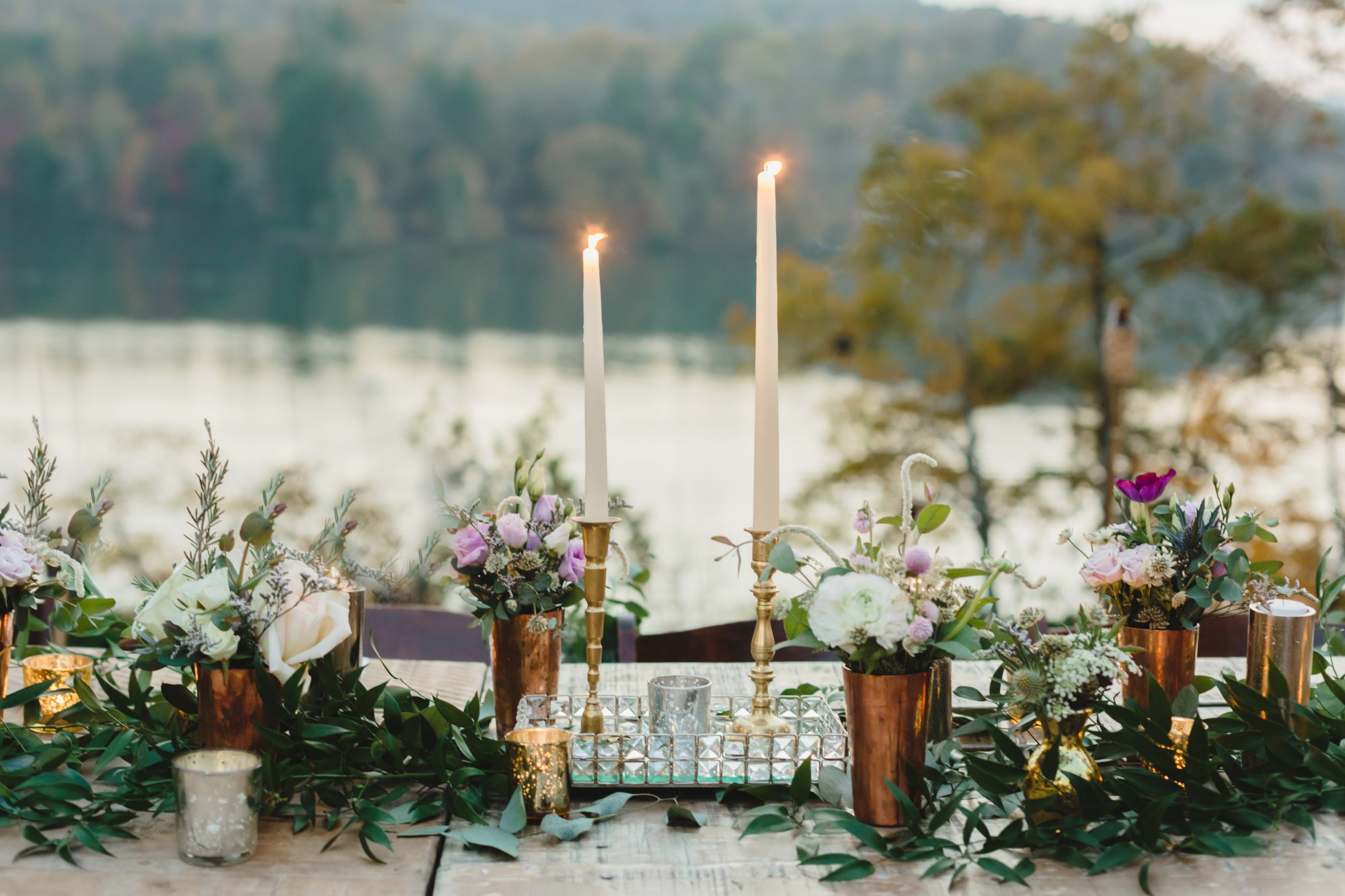 Fall Outdoor Wedding Table Decor