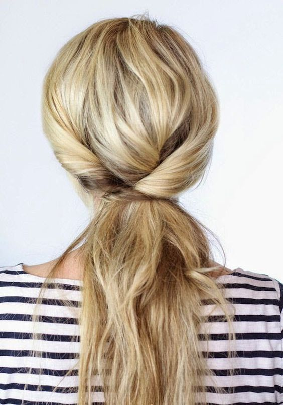 4th Of July Hairstyle Triple Twisted Ponytail