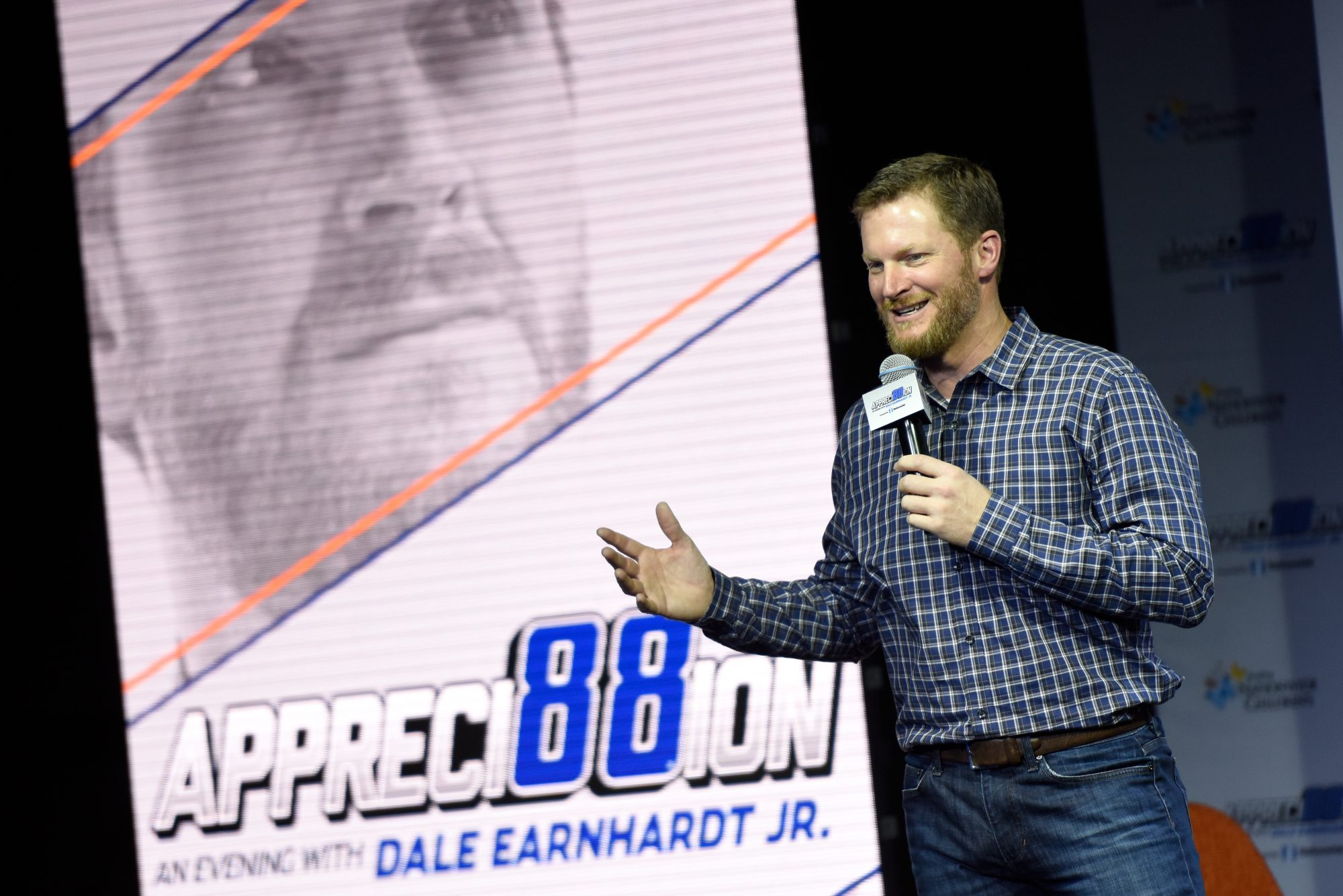 Dale Earnhardt Jr. Speaking During Appreci88tion