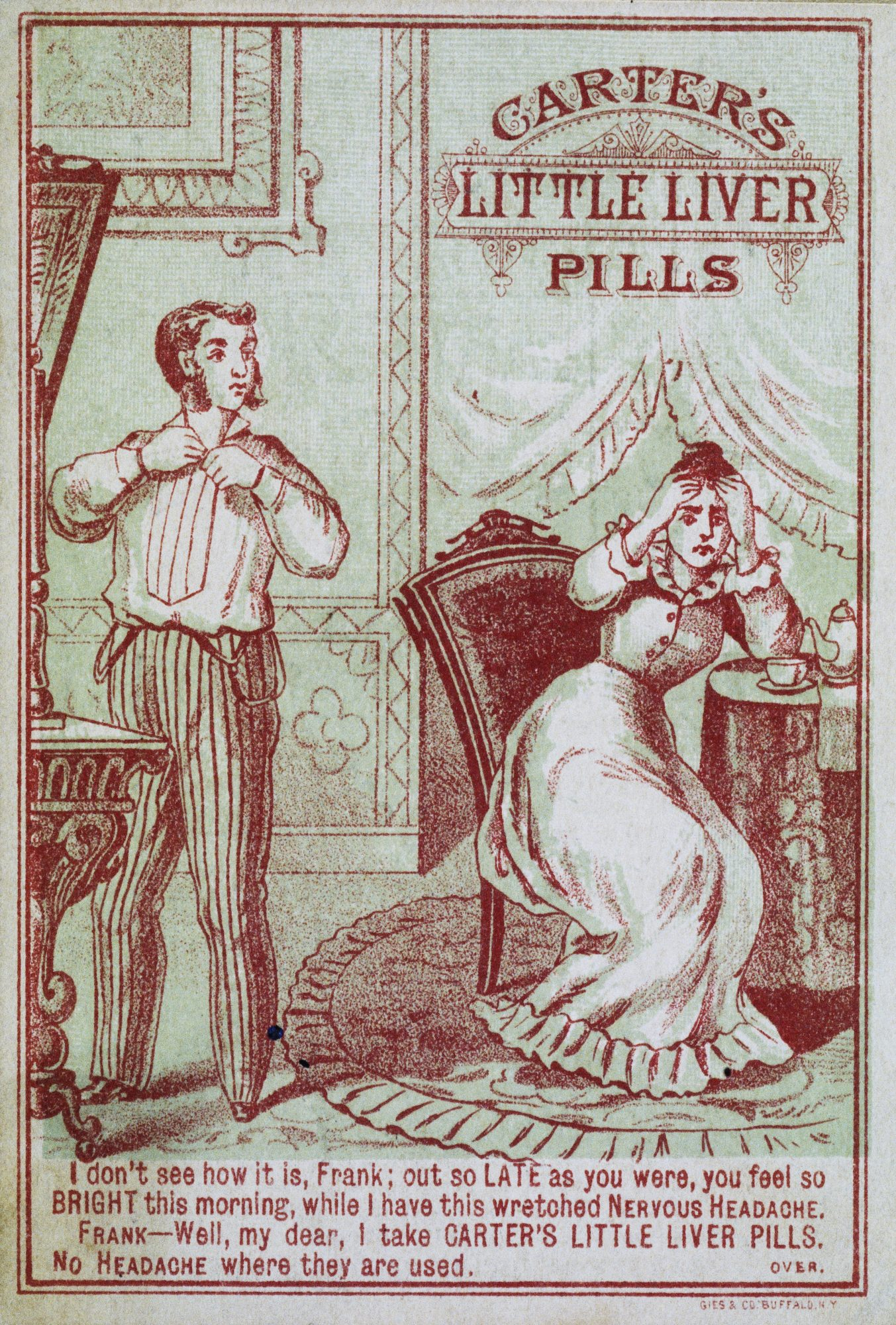 Advertisement for Carter's Little Liver Pills, circa 1900