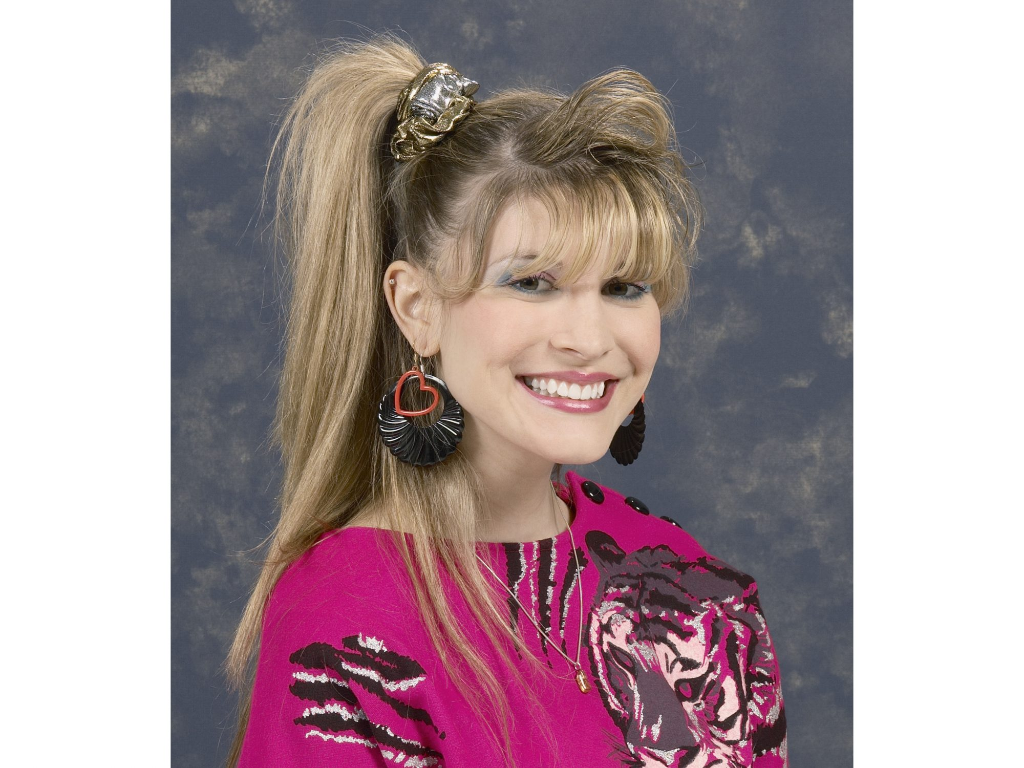 80s School Picture with Scrunchie