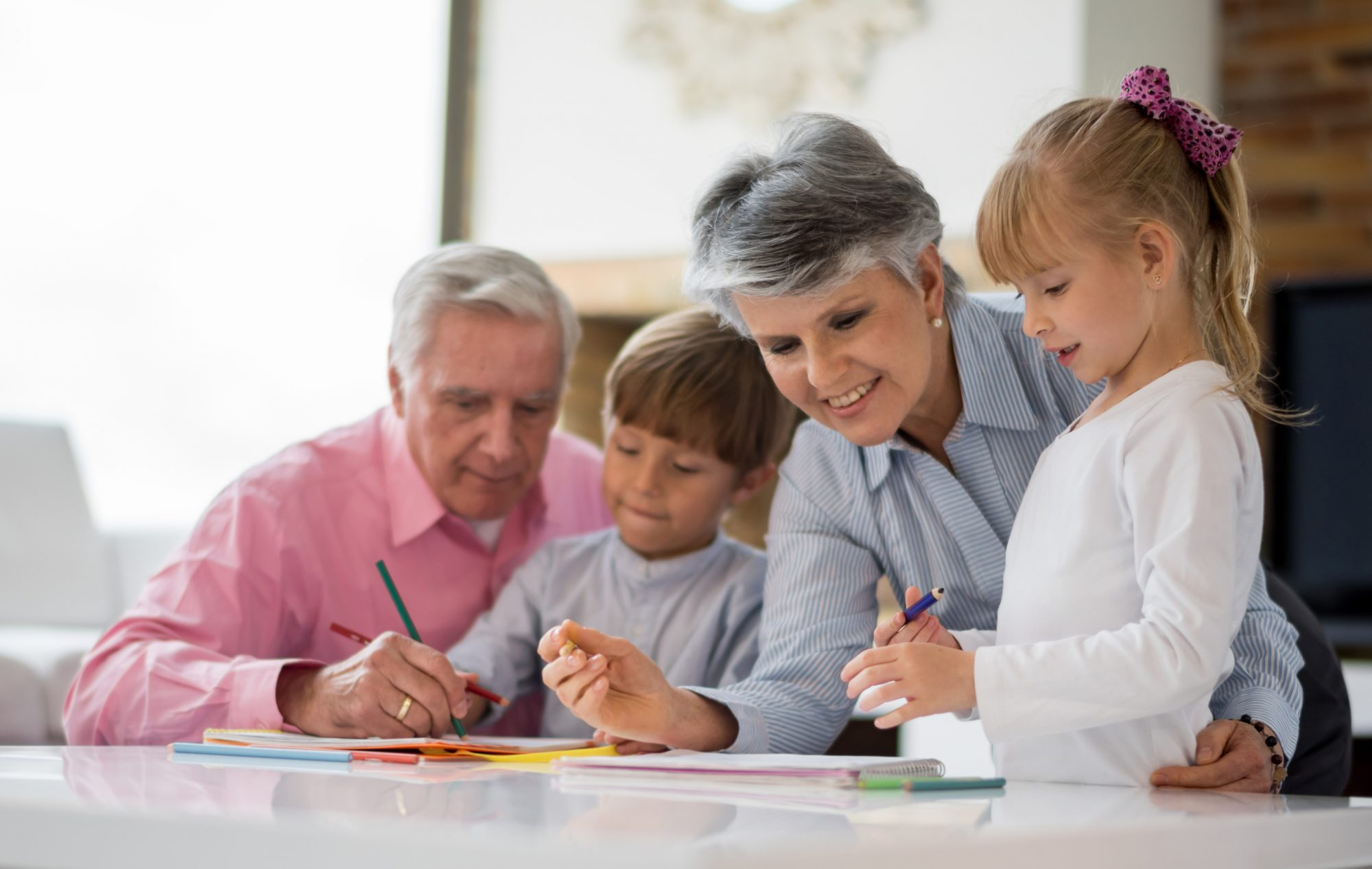 Grandparents Coloring with Grandkids