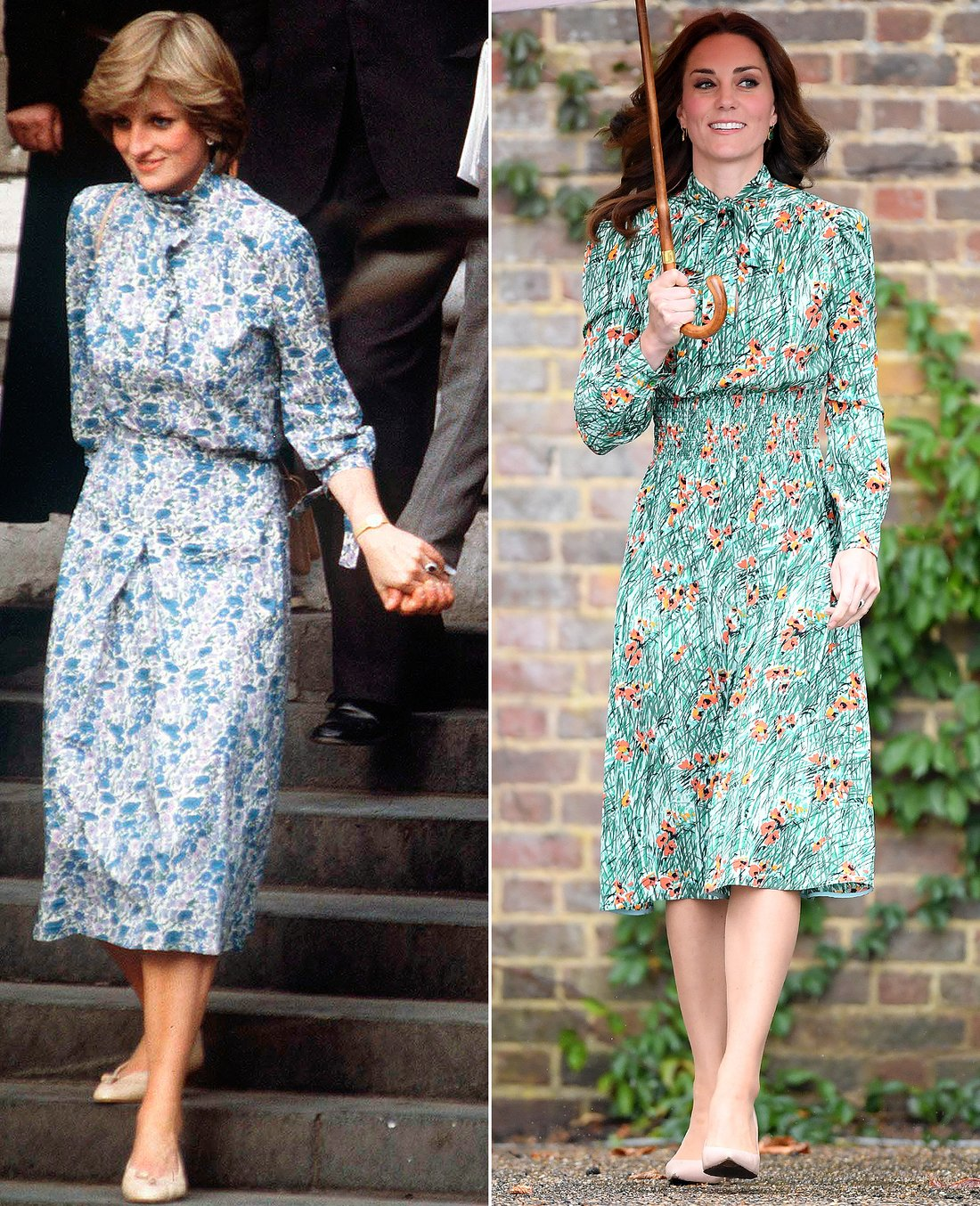 Kate and Diana Similar Floral Dresses