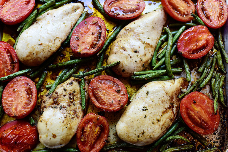 Italian Chicken Sheet Pan Supper
