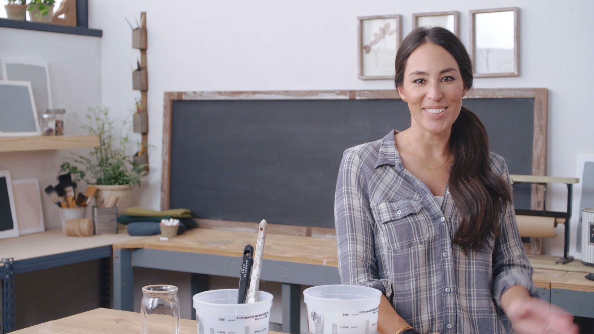 Joanna Gaines Cleaning Gunky Brushes