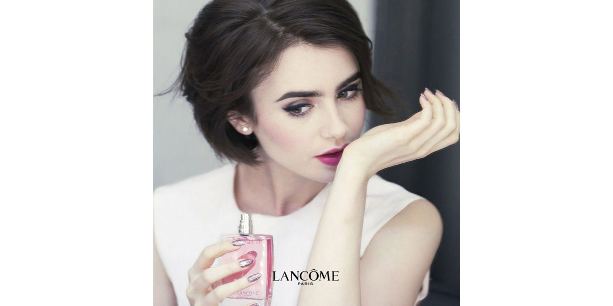 Lily Collins Lancome Ad