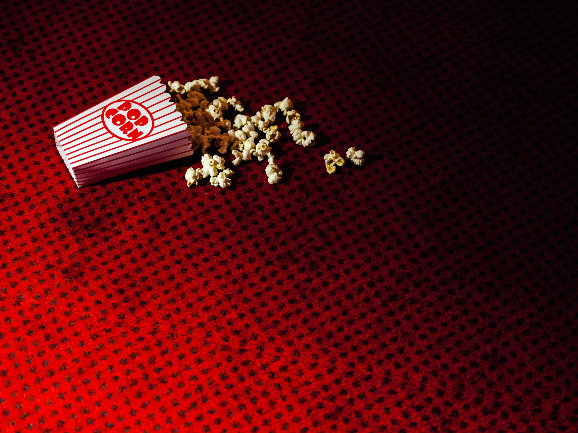 Fallen Popcorn on Movie Theater Floor