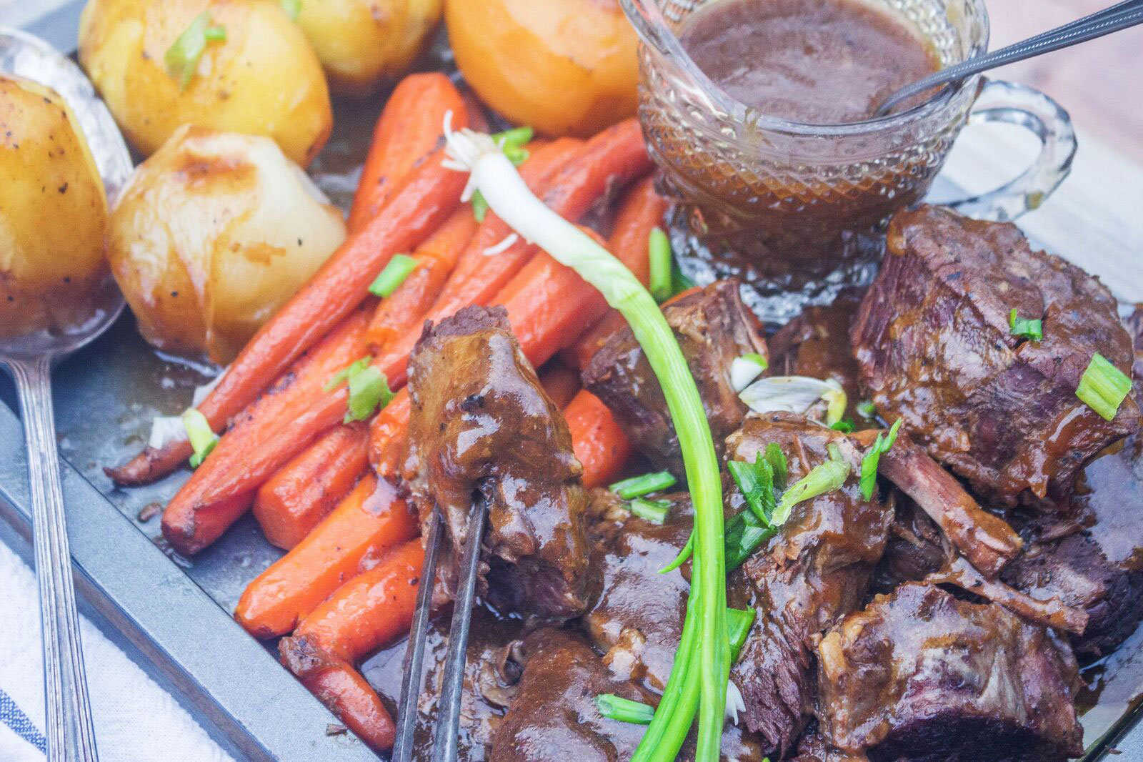 Jackie Garvin Old Fashioned Pot Roast with Vegetables and Gravy