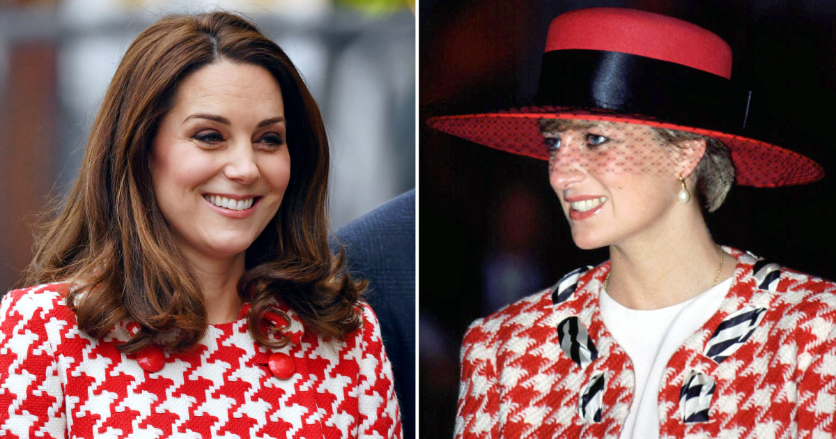 Kate and Diana 90s Look