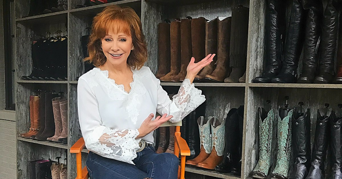 Reba Boot Shelves in Closet