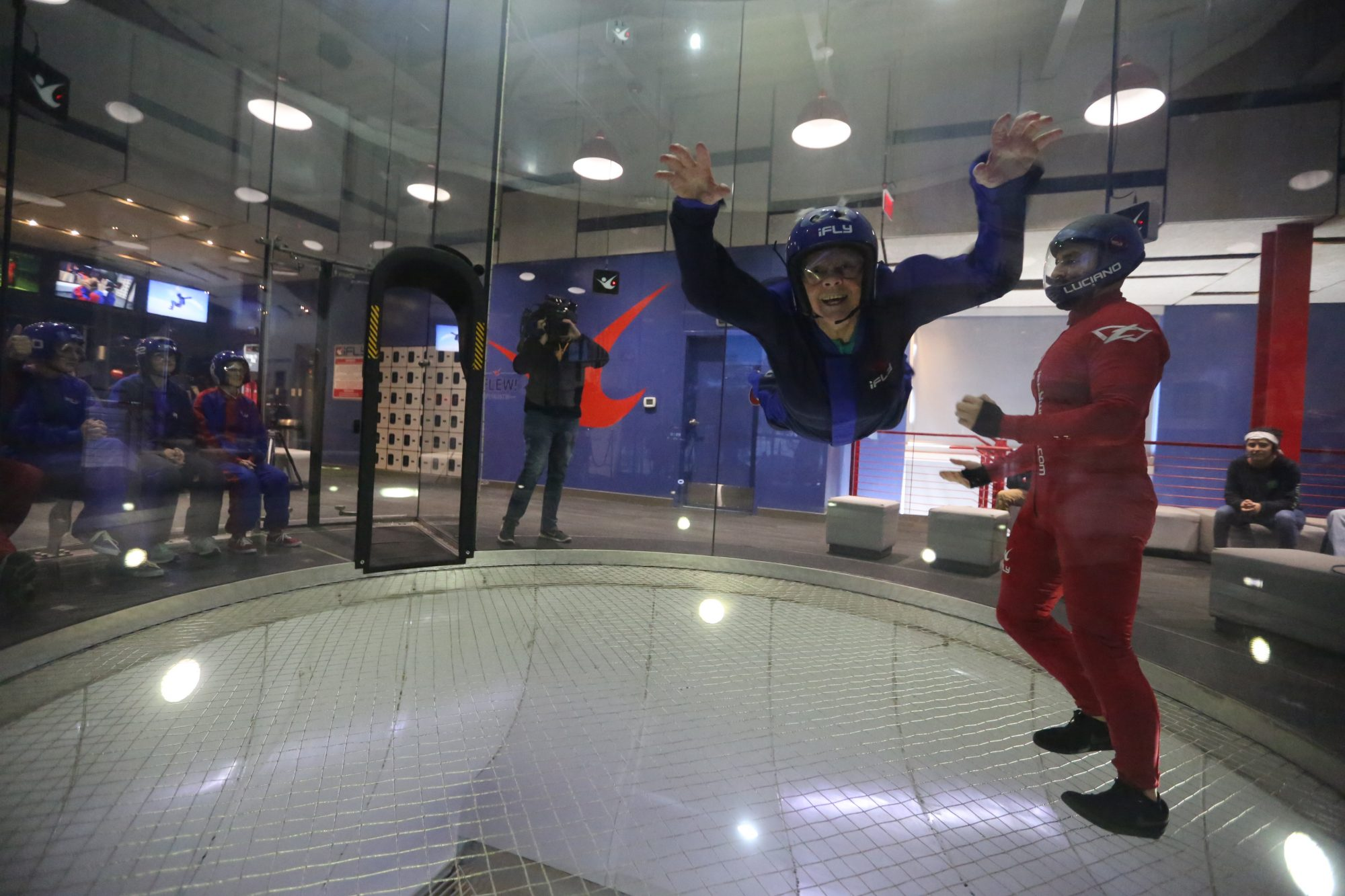 Skydiving for her 92nd birthday