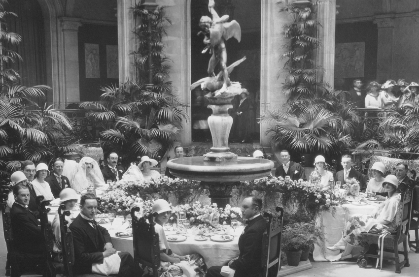 Cornelia Vanderbilt's Wedding Breakfast in The Biltmore Winter Garden