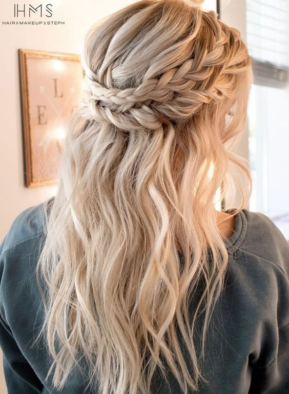 Double Crown Braids