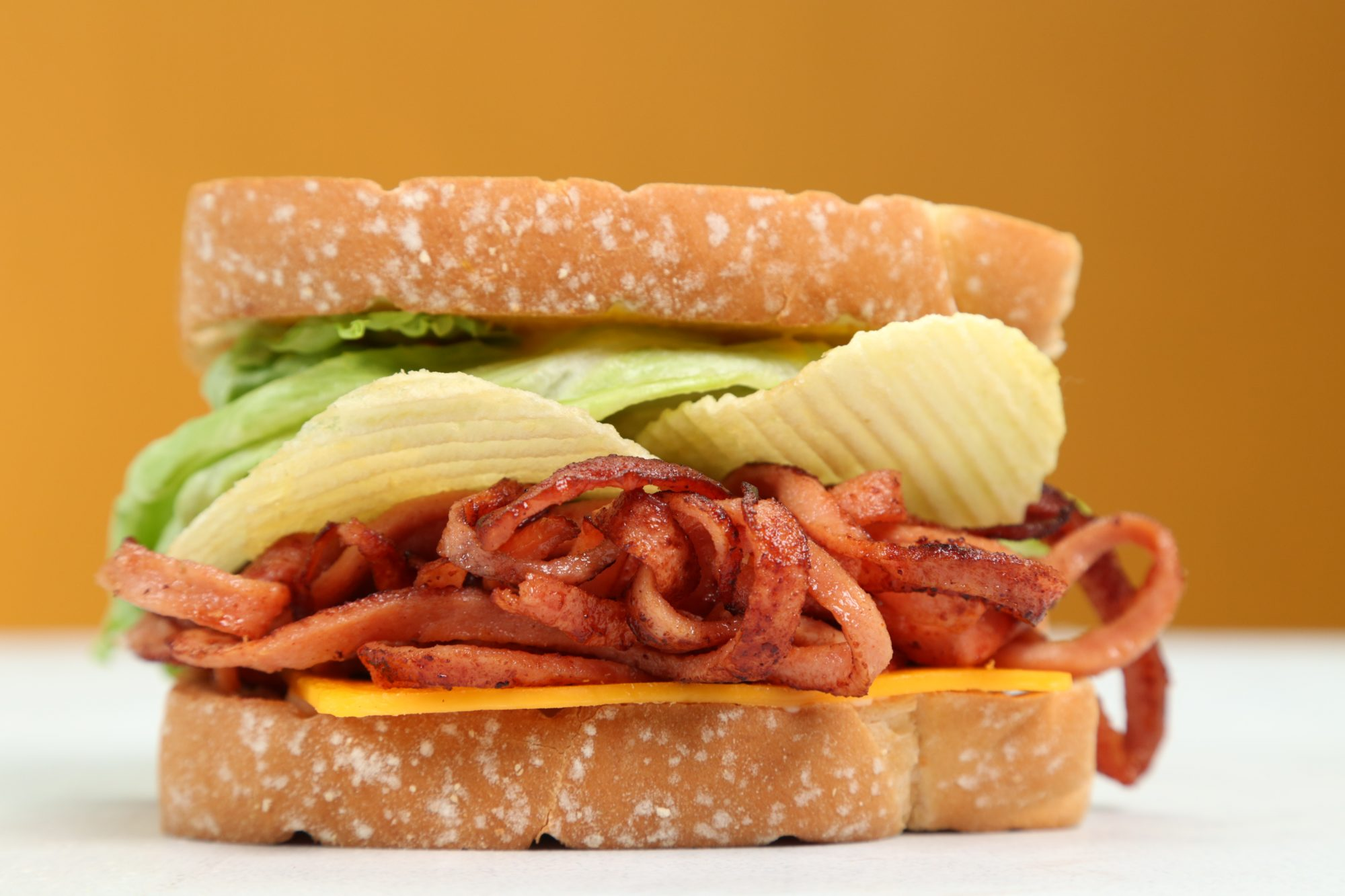 Spiralized Fried Bologna Sandwich image