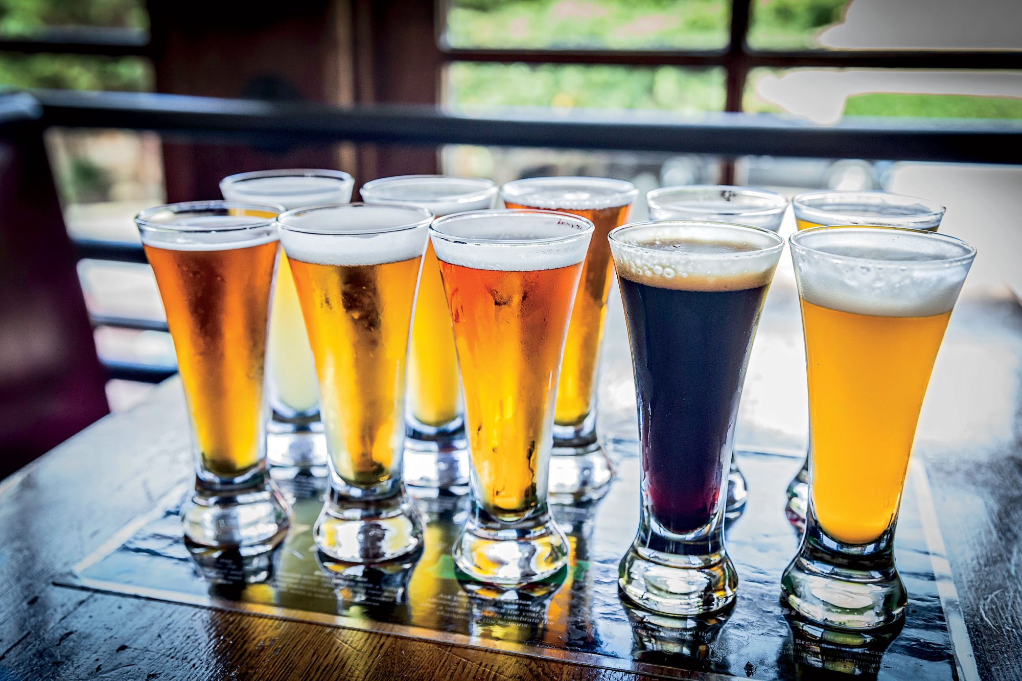 Smoky Mountain Brewery Beer Flights