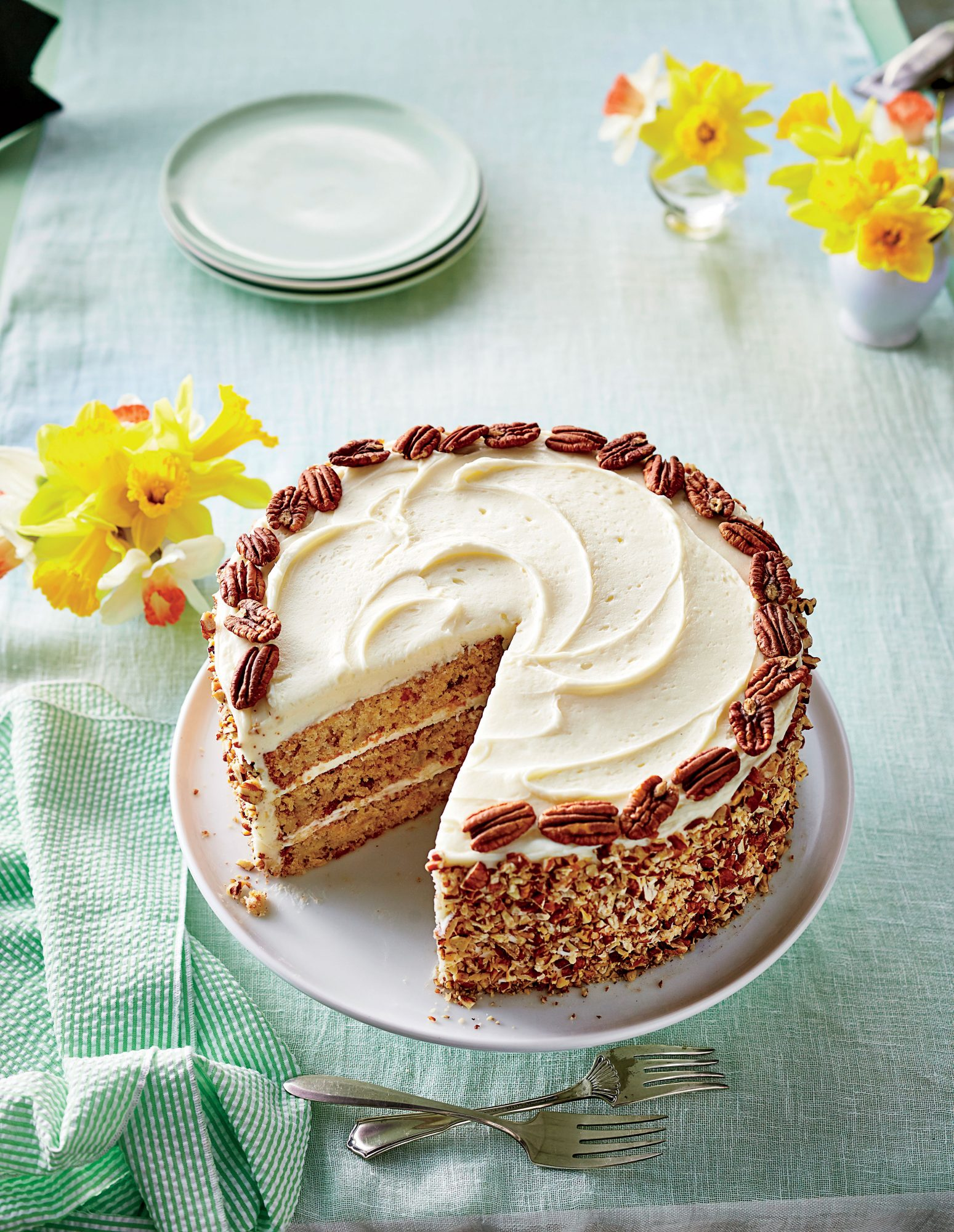 Hummingbird Cake with Pecans