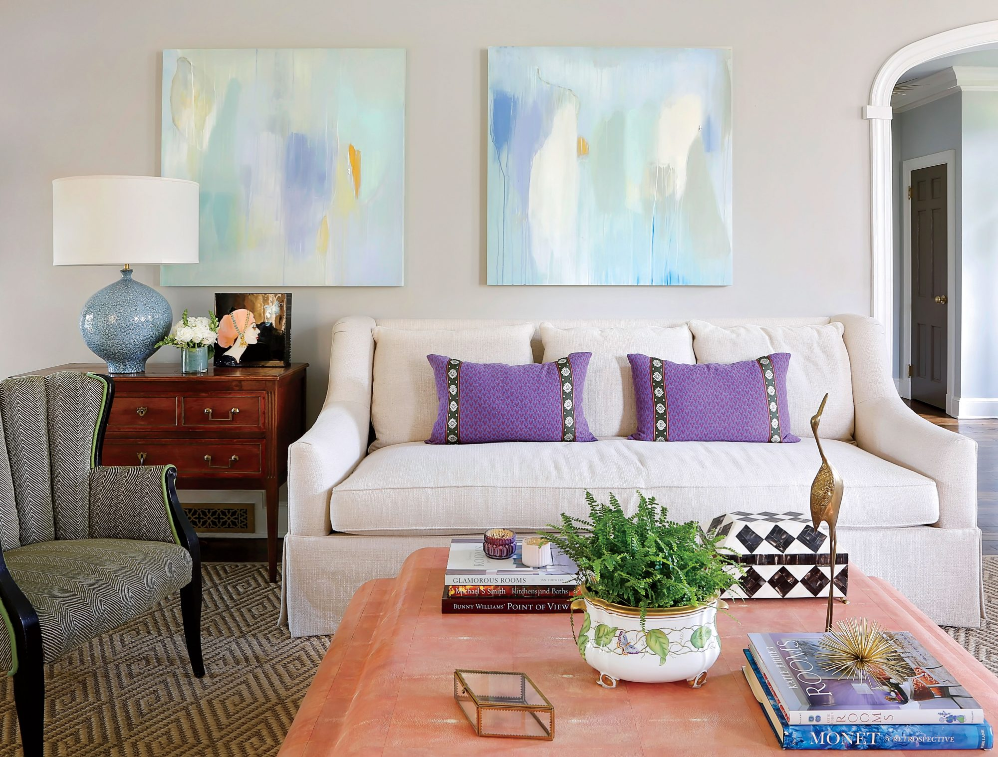 Soft Color Living Room Ideas good news: soft colors are on trend - southern living
